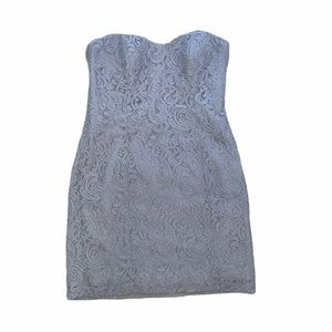 Dressy Collection strapless lace cocktail Dress